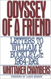 Cover of: Odyssey of a friend