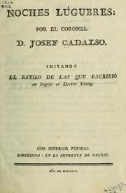 Cover of: Noches lúgubres