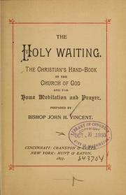 Cover of: The holy waiting