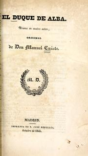 Cover of: El duque de Alba