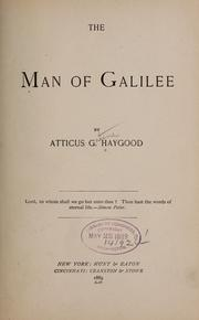 Cover of: The man of Galilee