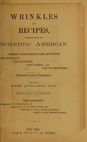 Cover of: Wrinkles and recipes, compiled from the Scientific American
