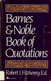 Cover of: Barnes & Noble book of quotations by Robert I. Fitzhenry