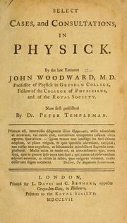 Cover of: Select cases, and consultations, in physick