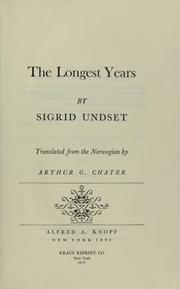 Cover of: The longest years