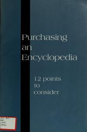 Cover of: Purchasing an Encyclopedia | American Library Association, American Library Association. Reference Books Bulletin Editorial Board