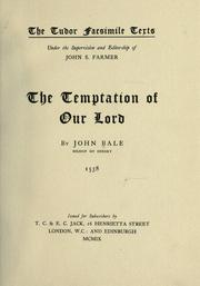 Cover of: The temptation of Our Lord