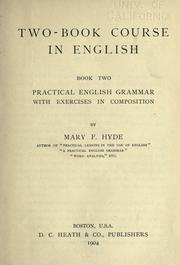 Cover of: Two-book course in English | Mary F. Hyde.