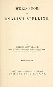 Cover of: Word book of English spelling. |