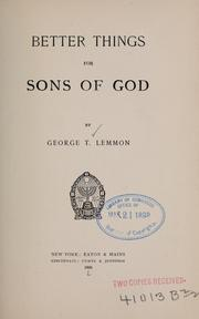 Cover of: Better things for sons of God
