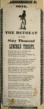 Cover of: The retreat of the sixty thousand Lincoln troops |
