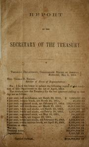 Cover of: Report of the secretary of the Treasury