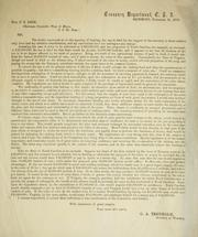 Cover of: Letter to chairman of the Committee of Ways and Means about the tax in kind