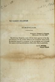 Cover of: Circular [enclosing prospectus of the Confederate States medical and surgical journal | Confederate States of America. Surgeon-General
