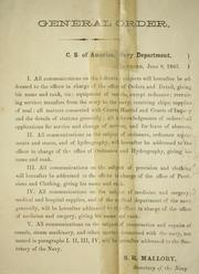 Cover of: General order, C. S. of America, Navy Department | Confederate States of America. Navy.