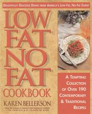 Cover of: Low-fat, no-fat cookbook | Karen J. Bellerson