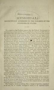 Cover of: Memorial, respectfully addressed to the Congress of the Confederate States | Charles Frederick Henningsen