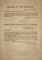 Cover of: Communication of secretary of Treasury: [relative to unpaid requisitions upon the treasury, drawn by the quartermaster general and the commissary general]