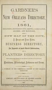 Cover of: Gardner's New Orleans directory for 1861 by Charles Gardner