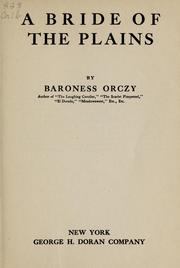 Cover of: A bride of the plains
