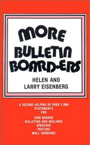 Cover of: More Bulletin Board-Ers | Larry Eisenberg