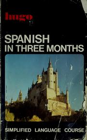 Cover of: Spanish in three months