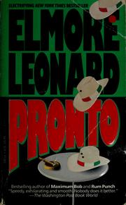 Cover of: Pronto | Elmore Leonard