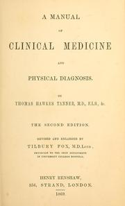 Cover of: Manual of clinical medicine and physical diagnosis