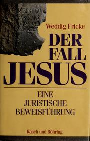 Cover of: Der Fall Jesus