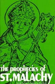 Cover of: The prophecies of St. Malachy