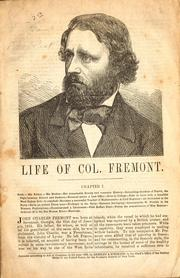 Cover of: Life of Col. Fremont