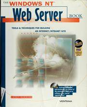 Cover of: The Windows NT Web server book