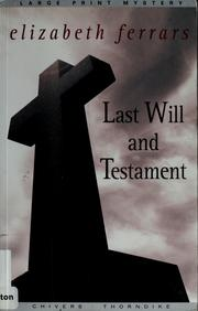 Cover of: Last will and testament