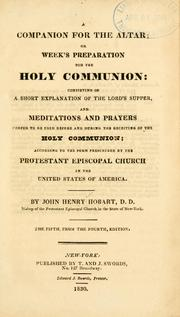 Cover of: A companion for the altar, or, Week's preparation for the holy communion