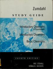 Cover of: Study guide: Introductory chemistry, a foundation; Introductory chemistry; Basic chemistry