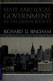 Cover of: State and local government in an urban society