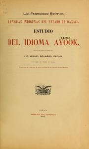 Cover of: Estudio del idioma ayook
