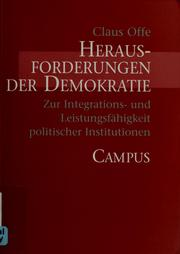 Cover of: Herausforderungen der Demokratie