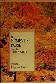 Cover of: A moment