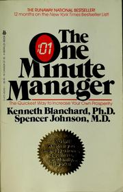 Cover of: The One minute manager