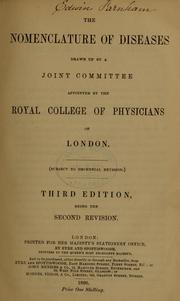 Cover of: The nomenclature of diseases | Royal College of Physicians of London