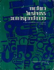 Cover of: Modern business correspondence | Marjorie Hunsinger