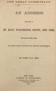 Cover of: The great conspiracy