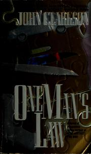 Cover of: One man's law