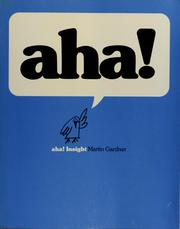 Cover of: Aha! Insight | Martin Gardner