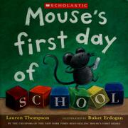 Cover of: Mouse's first day of school