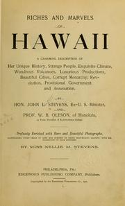 Cover of: Riches and marvels of Hawaii