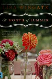 Cover of: A month of summer