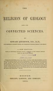 Cover of: The religion of geology and its connected sciences