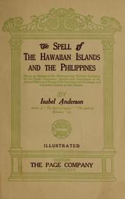 Cover of: The spell of the Hawaiian Islands and the Philippines